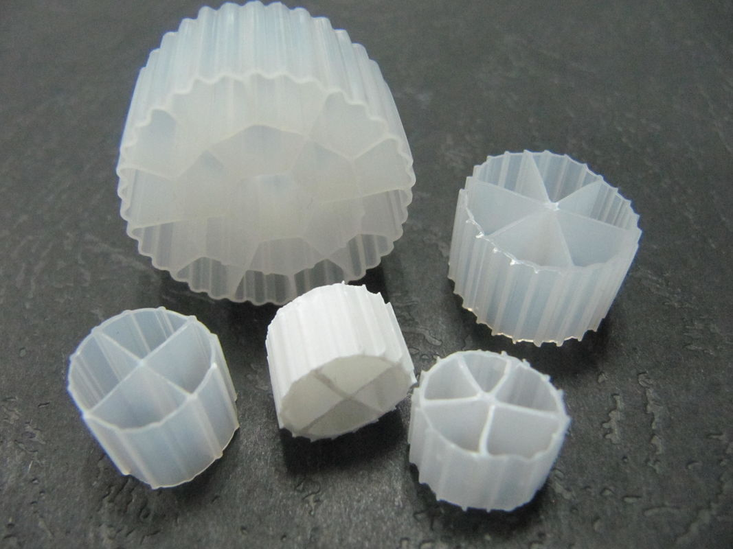 MBBR Bio Filter Medias With White Color And Virgin HDPE Material For Wastewater