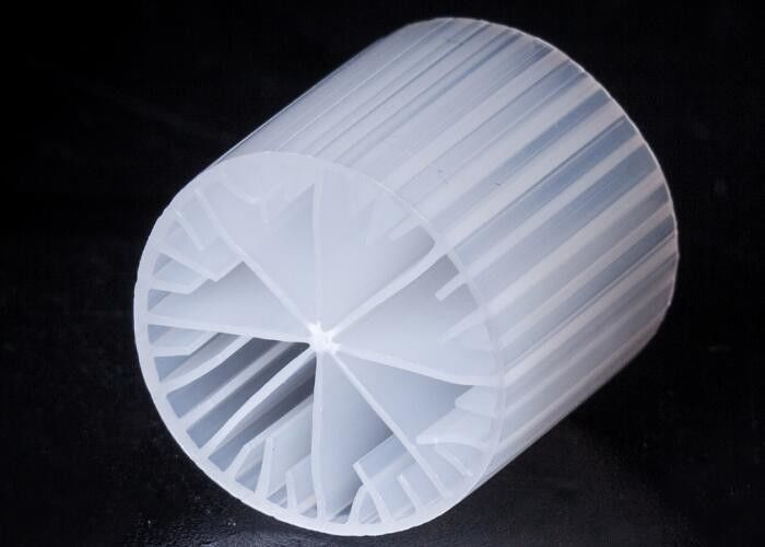 High Surface Area MBBR Filter Media White Color Virgin HDPE Material 15*15MM